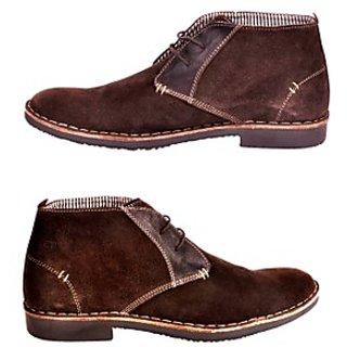 Versoba Men's Stylish Dark Brown Casual Shoes