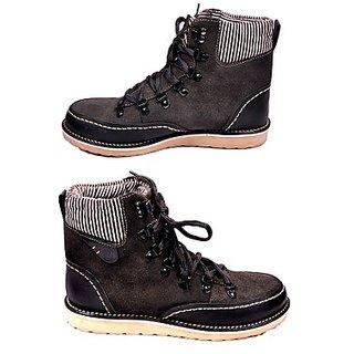 Versoba Men's Stylish Design Grey Boots