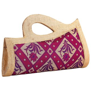 Sukkhi Dazzling Purple Easy Carry Clutch Handbag