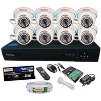 Active Feel Free Life CCTV COMBO KIT, 36IR Dome Camera 8Pcs + 1TB HDD + Analog  AHD 8 Channel Home Security Camera
