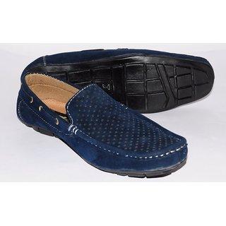 Men Loffers Blue Shoes