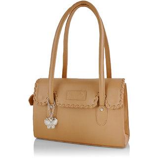 Butterflies Women ( Beige ) Shoulder Bag BNS 0265BG