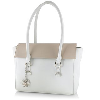 Butterflies Women ( White ) Handbag BNS 0566WH