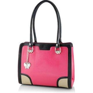 Butterflies Women ( Pink ) Handbag BNS 0577PK