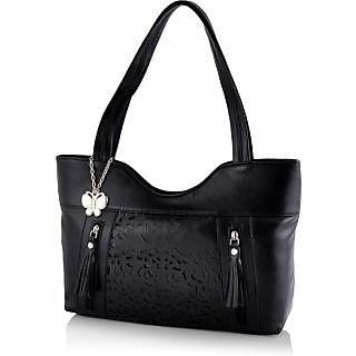 Butterflies Women ( Black ) Handbag BNS 0588BK