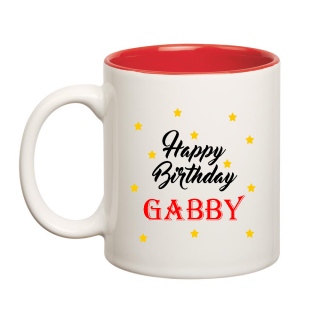 Happy Birthday Gabby Inner Red Ceramic Mug (350ml)