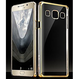 Tpu Flexible Back Case Cover For Samsung Galaxy J7 - Gold free 4in1 sim adptr