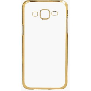 Electroplated Gold Edge Clear Soft Transparent Back Cover For Samsung J7 (2016) Edition