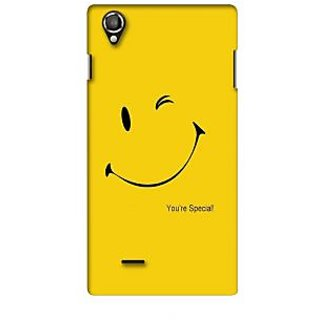 G.store Printed Back Covers for Lava Iris 800 Yellow
