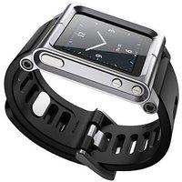 TOS Genric LunaTik Touch Wrist Watch Band For iPod nano 6th Gen (Silver)