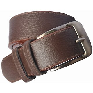 Sunshopping mens brown Leatherite needle pin point buckle belt