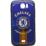 Snooky Blue Soft Back Cover For Micromax Canvas2 A110 Td9202