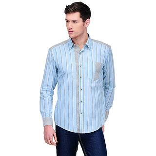 Yepme Roger Stripes Shirt - Light Blue