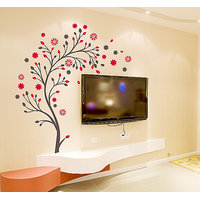 Walltola TV Background Floral Wall Sticker (60X90 Cm)