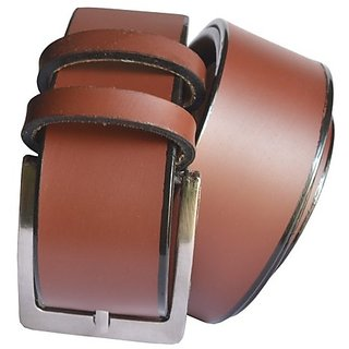Sunshopping mens Leatherite brown needle pin point buckle belt