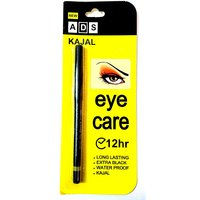 ADS EYE CARE KAJAL LONG LASTING EXTRA BLACK WATER PROOF KAJAL 12 HR.(pack of 2)
