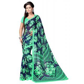 Janasya Floral Printed Party Wear Georgette Saree