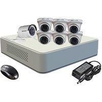 Hikvision Combo, Turbo IRP Dome Camera 6Pcs  Bullet Camera 1Pcs + F1 Mini DVR 8 Channel Home Security Camera