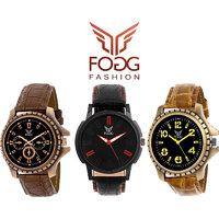 Fogg Analog Watch Combo
