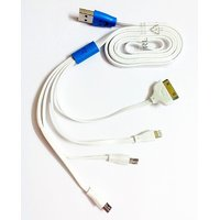 5 In 1 USB Charging Cable For Iphone 4/4S/5/5C/5S, Samsung, BB, Micromax Etc