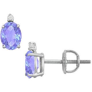 Classy 14K White Gold & Diamond 2.04 Ct Stud Earring