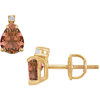 Pretty Stylish 14K Yellow Gold & Diamond 2.04 Ct Stud Earring
