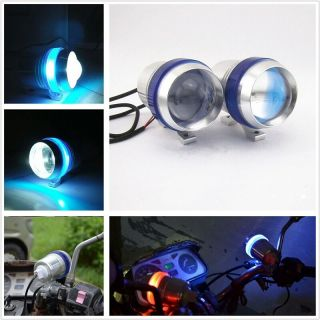Bikers World 2 X U3  Blue Ring Fog Lamp for Ktm Rc 200