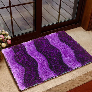 Presto Purple Colour Abstract 3D Doormat