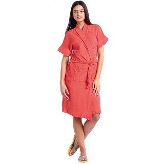 Imported Womens Bathrobe Gown (Gajri) Free Size
