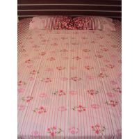 DOUBLE BEDSHEET SET OF 3  PIECES With Two Pillow Covers  For This Summer Season