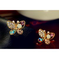 Sweet crystal butterfly earrings jewelry. Stud earrings. Awesome for party wear.