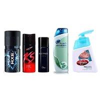 Combo Of Axe  Ks  Hot Collection For Men  Head Shoulder Conditioner  Lifebuoy Handwash