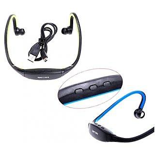 TF Card Slot with FM Radio Head Sports Neckband Wireless Cordless Wrap around Style MP3 Player