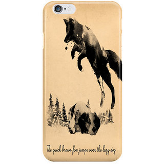 Dreambolic Fox Jumps Over The Lazy Dog I Phone 6 Plus Mobile Cover