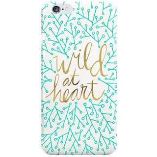Dreambolic Wild At Heart Turquoise Gold I Phone 6 Plus Mobile Cover
