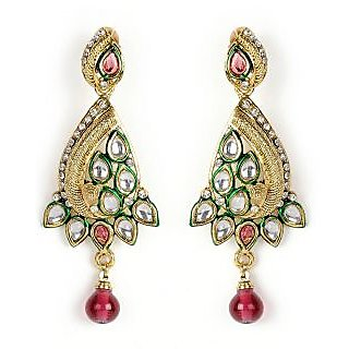 Shining Diva Conventional Beaded Hanging Earrings