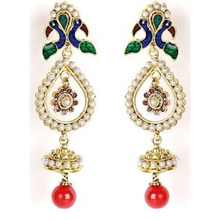 Shining Diva Mayur Designed Traditional Hanging Earrings