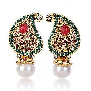 Shining Diva Paisley & Pearl Drop Earrings