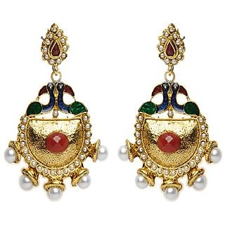 Shining Diva Mayur Design Earrings