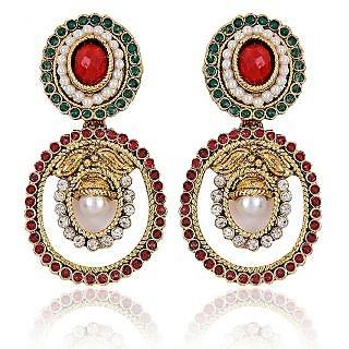 Shining Diva Oval Exuberant Earrings