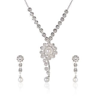 Shining Diva Sparkle Swirl Necklace Set