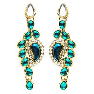 Shining Diva Teardrop Cluster Earrings