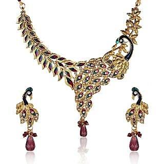 Shining Diva Mayur Kundan Necklace Set