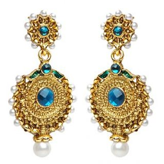 Shining Diva Dual Radial Earrings