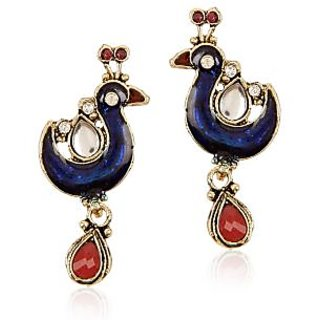 Shining Diva Mayur Designed Hanging Earrings