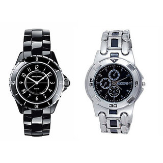 Combo of 2 Casual Watches For Mens