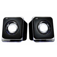 Terabyte Multimedia USB 2.0 Mini Speakers For PC Laptop Notebook Computer Black
