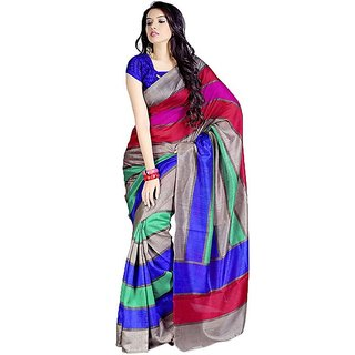 Fancy Bhagalpuri Silk Multi Colour Sarees