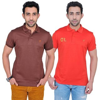 Fabnavitas Mens Cotton Polo T-shirt Pack of 2