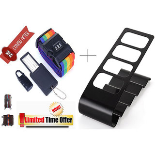 Combo of Remote Stand Rack Organizer And Travel Strap Luggage Bag Belt
